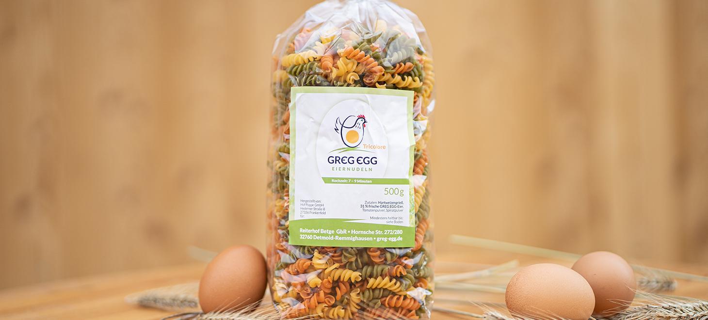 Eiernudeln Tricolore