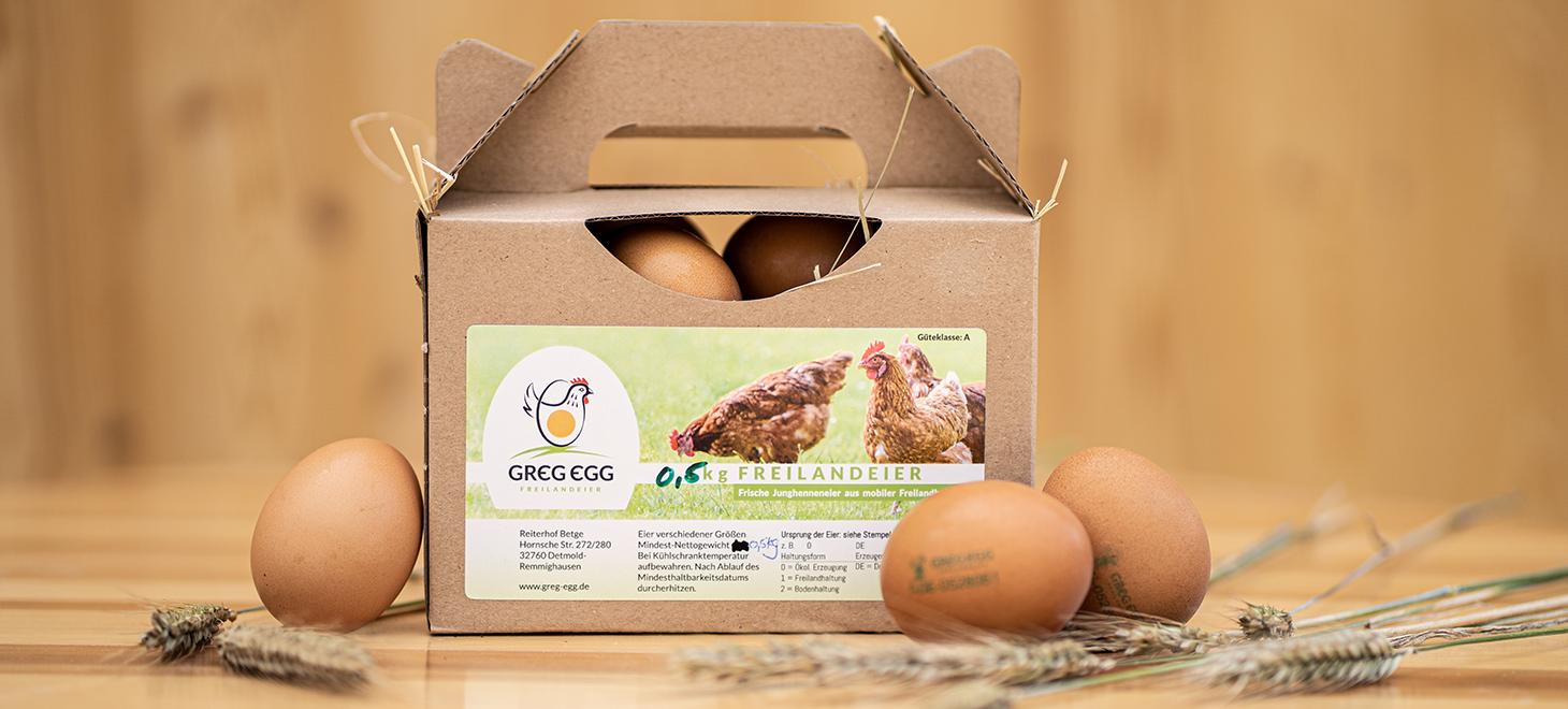 Greg Egg 500g Box (verschiedener Größen)